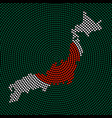 abstract map country japan vector image vector image