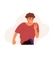 angry annoyed man with dissatisfied facial vector image vector image