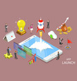 app launch flat isometric concept vector image
