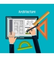 architecture project design vector image