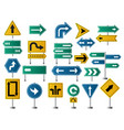 arrows direction road signs for street or highway vector image
