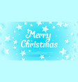 banner merry christmas in minimalistic style vector image vector image