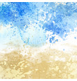 beach themed watercolour texture background vector image