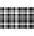 black white plaid checked seamless pattern vector image