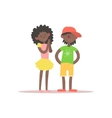 Brother And Sister Black Kids vector image