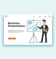 business presentation presenter businessman vector image vector image