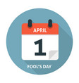 Calendar flat icon April 1 Fools Day vector image