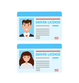 car driver license or id cadr vector image vector image