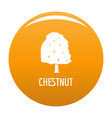 chestnut tree icon orange vector image
