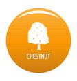 chestnut tree icon orange vector image vector image