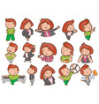 cute cartoon characters on set vector image vector image