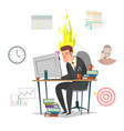 emotional burnout concept flat isolated vector image vector image