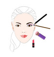 face makeup vector image vector image