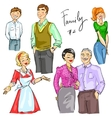 Family members isolated set 2 vector image vector image