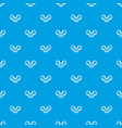 filling wheat pattern seamless blue vector image vector image