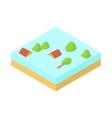 Flood icon in cartoon style vector image vector image