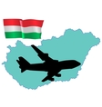 fly me to the Hungary vector image vector image