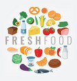 food and drink fruits and vegetables healthy vector image vector image