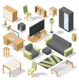 furniture set for bed room isometric vector image vector image