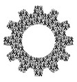 gear mosaic of mourning ribbon icons vector image vector image