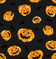 Halloween Pattern Seamless Background vector image