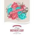 Happy Mothers Day Typographical Background vector image