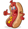 Hot Dog Thumbs Up Cartoon Character vector image vector image