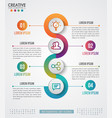 infographic modern design template vector image vector image