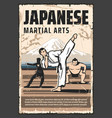 japan culture japanese martial arts tradition vector image
