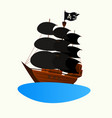 logo pirate ship invitation to a childrens party vector image