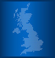 matrix map of united kingdom vector image vector image