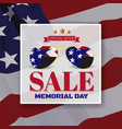 memorial day sale promotion banner background vector image vector image