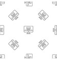 monitor house security pattern seamless vector image vector image