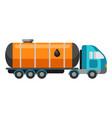 oil tank truck vector image vector image
