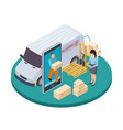 online express delivery 3d isometric vector image