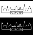 oxford skyline linear style editable file vector image vector image