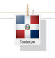 photo of dominican republic flag vector image