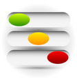 power buttons switches with 3 states simple ui vector image