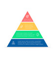 Pyramid for infographics chart diagram vector image vector image