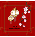 Red background for 2017 Chinese new year vector image vector image