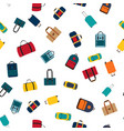 seamless pattern background with travel bags vector image