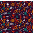seamless pattern joyful Christmas vector image vector image