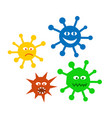 set icons viruses vector image vector image