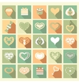 Set of Love icons vector image vector image