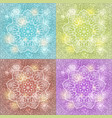 set of mandala snowflake background vector image vector image