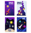 set of space template space travel exploration vector image