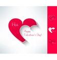 Set of valentines couple sign with two vector image vector image