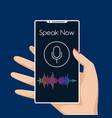 smartphone voice assistant vector image vector image