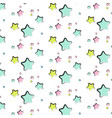 star pattern abstract texture kids cute vector image vector image