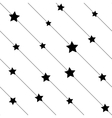 Stars on line seamless pattern vector image vector image